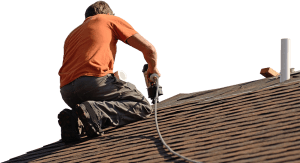Durable Shingles Being Installed by Austin Tx Roofing Technician